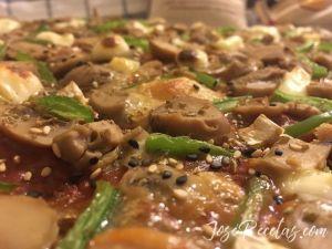 pizza con base de lentejas