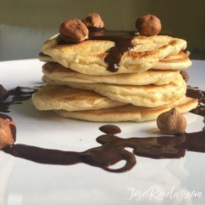 pancake con chocolate
