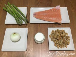 ingredientes para el salmon