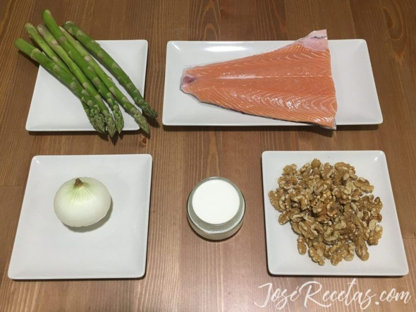 ingredientes para el salmon