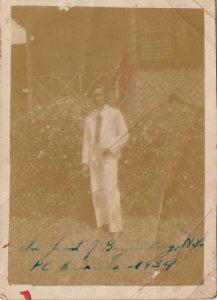 Picture of Jose Sibayan in Bayombong, Nueva Vizcaya 1934