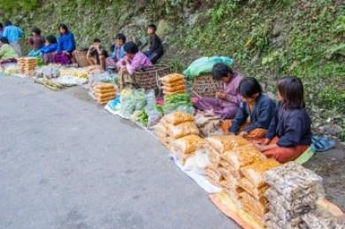 Eastern Bhuthan roadside market.