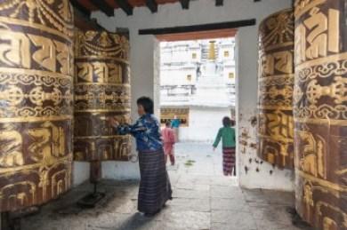 Bhutan -Tashi Yangtse prayer drums.