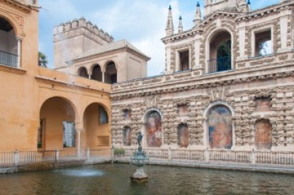 Andalusia - Seville's Alcazar Neptune Fountain.