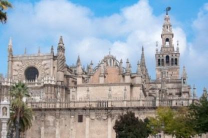 Andalusia -Seville's Cathedral and the Giralda.
