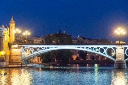 Andalusia - Seville's Triana Bridge over the Guadalquivir.
