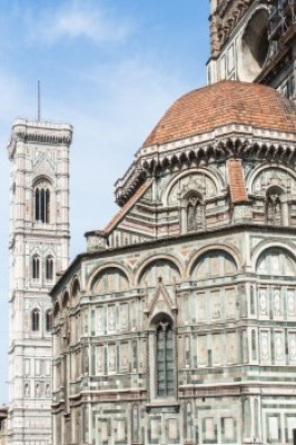 Tuscany - Florence dome and bell tower,
