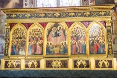 Tuscany - Florence. Giotto Coronation of the Virgin.