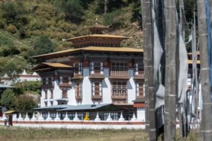 Bhutan - Kurje Lhakhang monastery in Bhumthang.