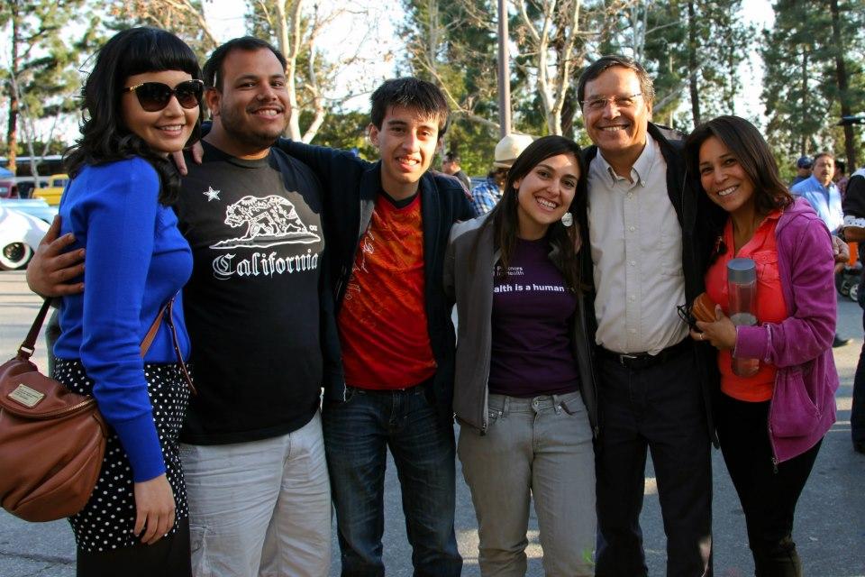 Lucia Soriano, Alonzo Campos, Jonathan Rodriguez, Andrea Mendoza, Jose Z. Calderon and Alicia Alvarado at Pitzer College.