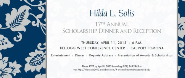 Hilda Solis Scholarship Dinner Reception