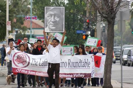 peregrinaje en honor de Cesar Chavez