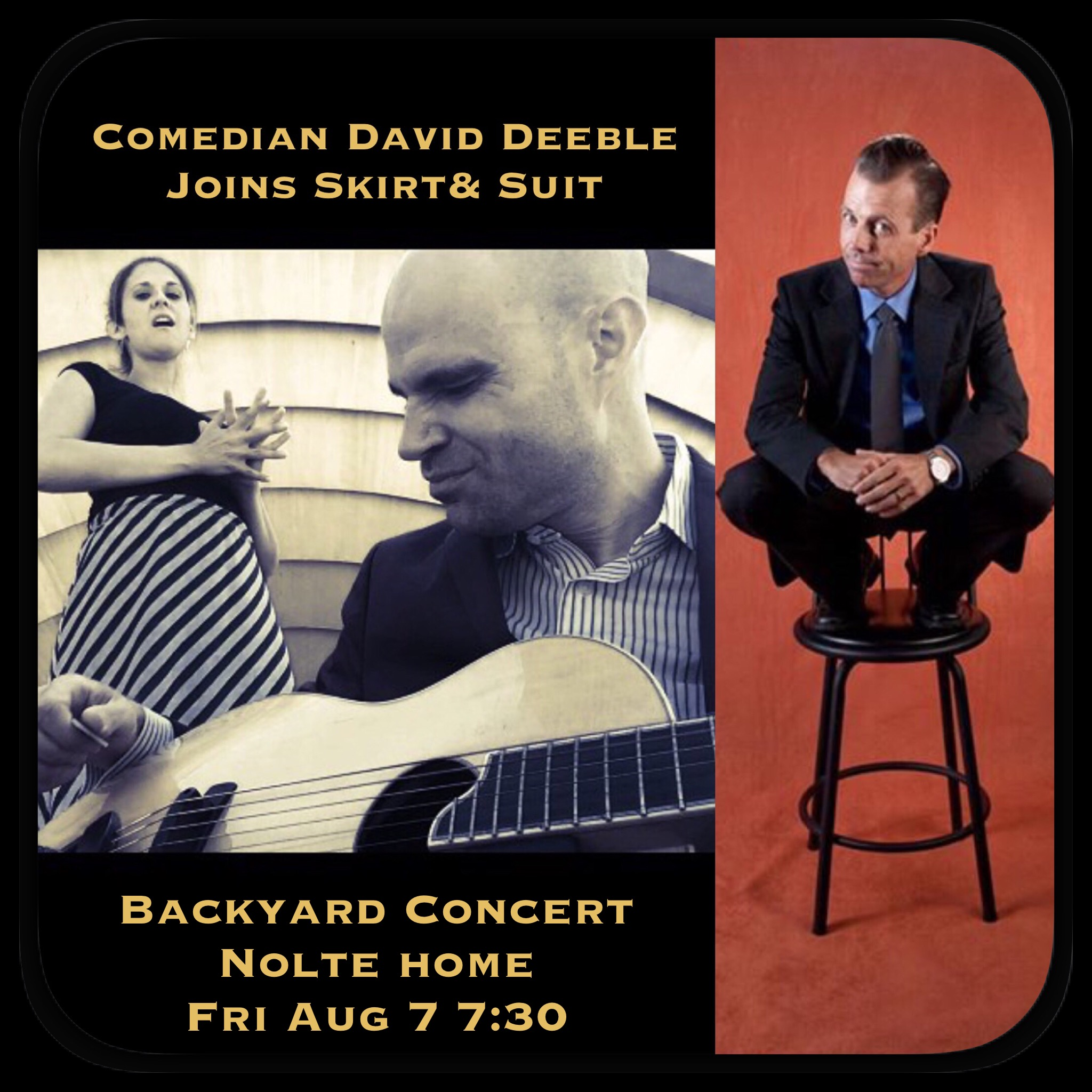 backyard concert at the noltes this friday at 7 30pm jose z