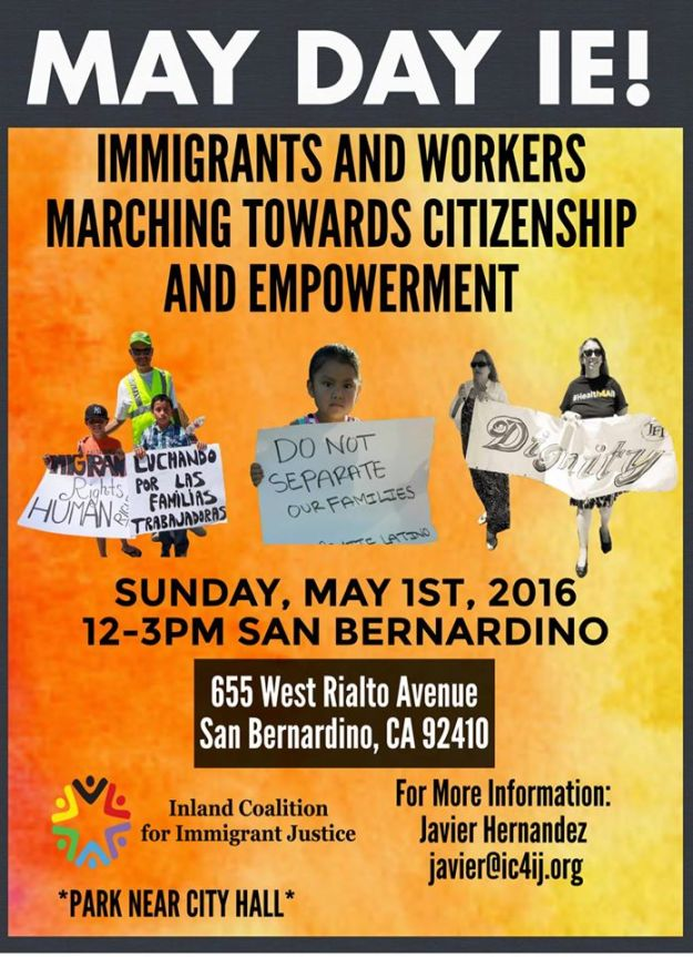 May Day March in San Bernardino 2016