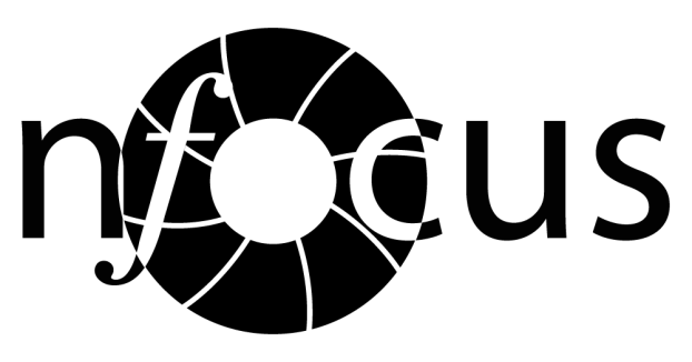 Black and White version of nfocus Logo