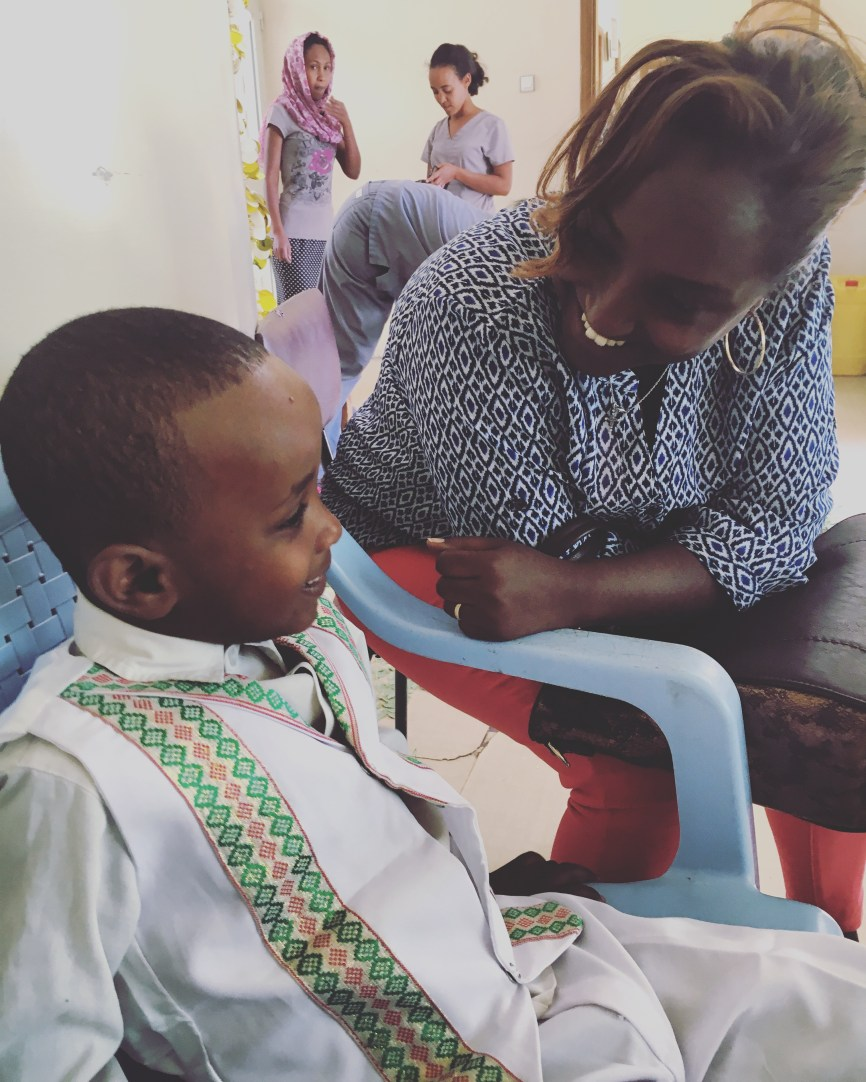 Abenezer and Eden, the orphanage director