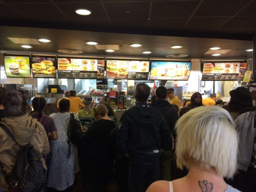 """This London McDonald's was the perfectly embodiment the phrase """"organized chaos."""" I was impressed."""