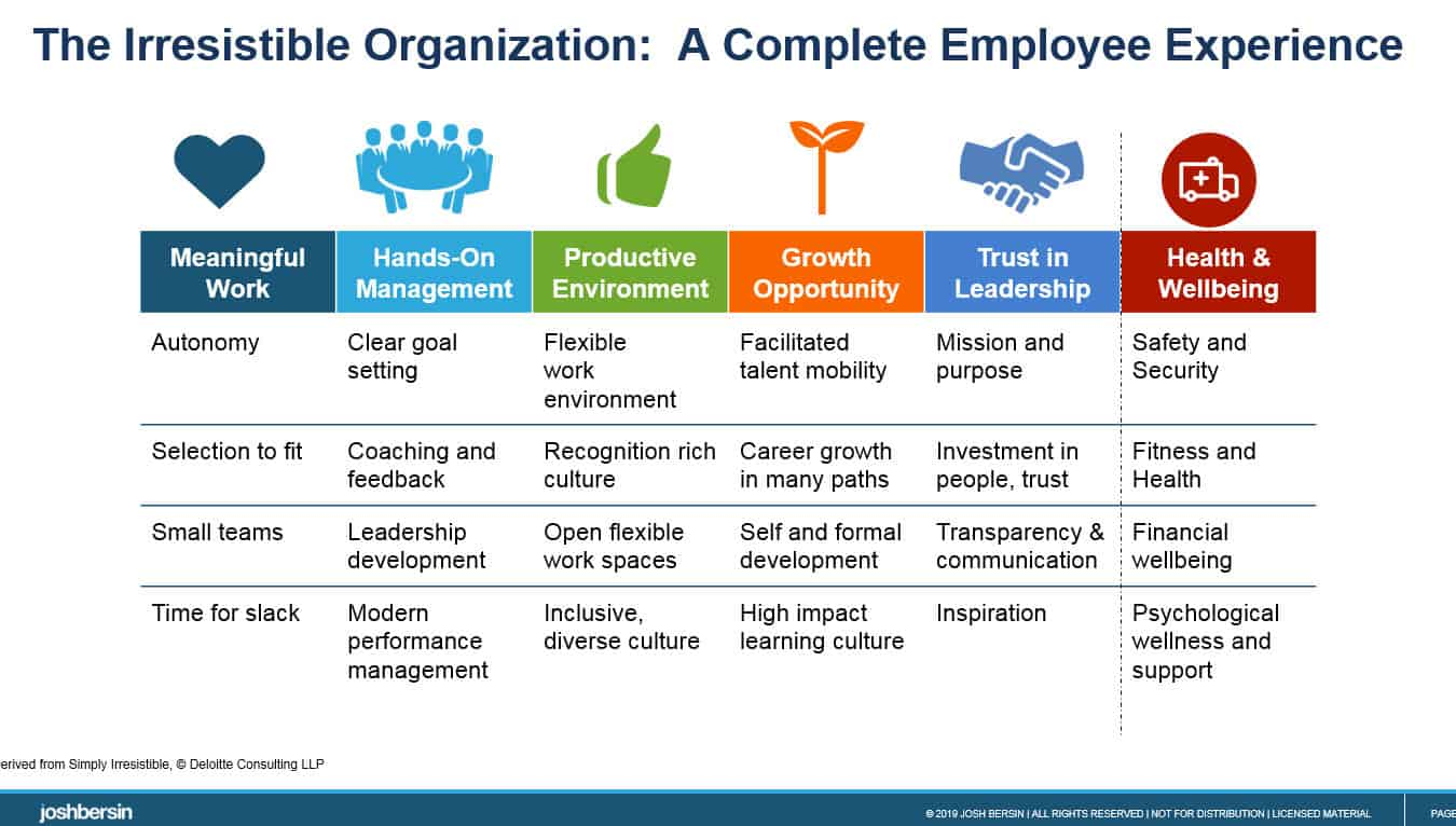 irresistible organization, employee experience