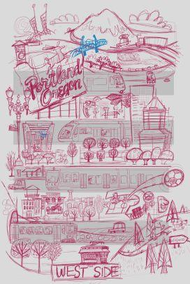 portland poster sketch1 josh cleland