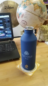 My new water bottle! (Thanks, WPR)