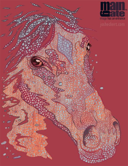 Horse head shirt design