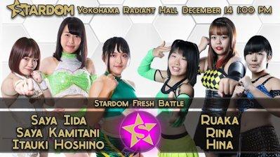 3838 Tag & Itsuki Hoshino vs. Rina & Tokyo Cyber Squad