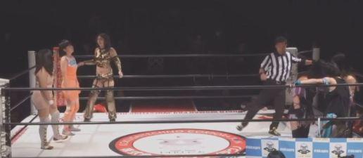 Ayako Sato, Jaguar Yokota, and Madeline vs. HIROe, Nanami, and Yumi Ohka