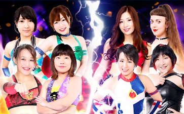 Banny Oikawa, Miku Aono, Thekla, and Yappy vs. Matsuya Uno, Rina Shingaki, Syuri, and Tae Honma