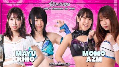 AZM and Momo Watanabe vs. Mayu Iwatani and Riho