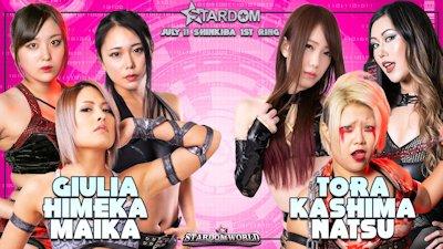 iulia, Himeka, and Maika vs. Natsuko Tora, Natsu Sumire, and Saki Kashima