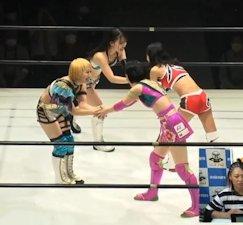 Hikari Shimizu and Misa Matsui vs. Momo Kohgo and Momo Tani