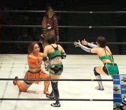 Ami Miura and Tae Honma vs. Rina Amikura and SAKI