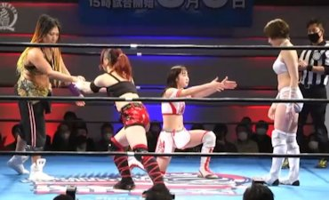 Rina Yamashita & Yuki Mashiro vs. Saori Anou & Suzu Suzuki