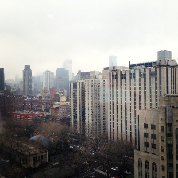 A foggy shot of the upper ea manhattan