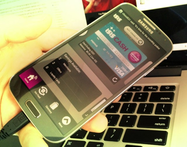 My Galaxy S4 with Verizon Isis Wallet