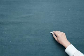 empty blackboard