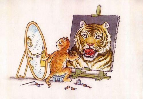 Cat_-self-portrait-Tiger