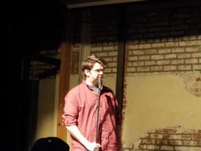 Josh Paget performs at Westside Comedy Theater