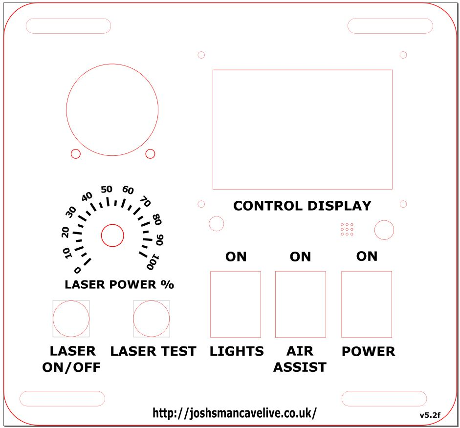 K40 Upgrade Part 2 Control Panel Final Cut And Wiring Installing Further Laser Hole Drilling Machines On Diode Wire Diagram So What Started Off As Some Simple Changes I Decided To Change The Font Of Digits Around Power Gauge Align All Text Make Two Holes Bigger