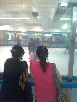 The skating rink was closed.