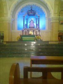 The interior was almost identical to the church in Concepcion, Tarlac.