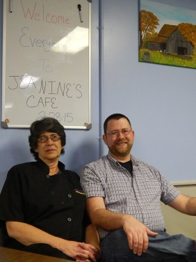 Jeanine Smith recently opened Jeanine's Cafe at 2101 Highway 96 in Burns. Also pictured, her son Travis Smith. Photo by Josh Arntz/For the Herald