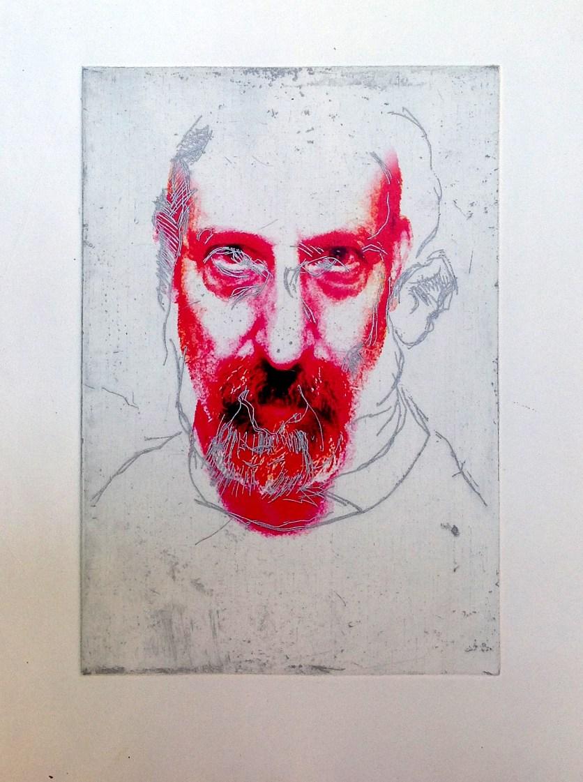 Self Portrait , Intaglio and Digital print 2014