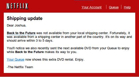Netflix email screenshot