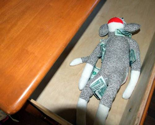 Moneys in sock monkey