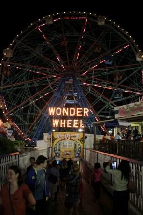 ConeyIsland.Pier.WonderWheel.Night