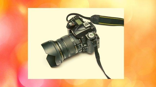 a new black canon camera
