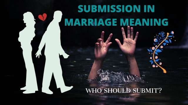 A couple arguing over submission in marriage