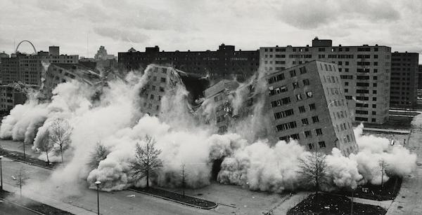 buildings collapsing