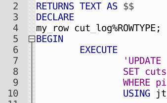 PostgreSQL user-defined functions with PL/pgSQL for repetitive